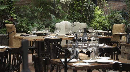 Una Terraza Repleta De Vegetación Picture Of Bistro Y