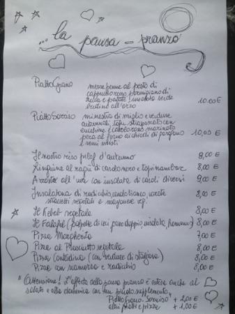 Al Grande Cerchio: lunch menu