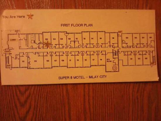 Super 8 Imlay City: Room 102 location