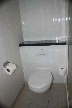 Holiday Inn Express Exeter: Clean, modern toilet.