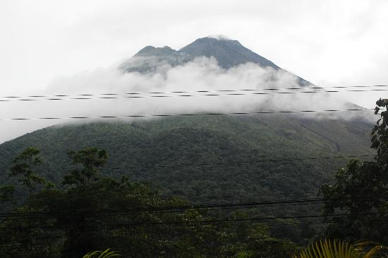 The Royal Corin Thermal Water Spa & Resort: Volcano from our balcony 