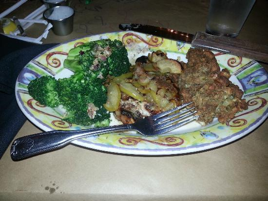 The Copper Pot: Special: Pork chop, stuffing and broccoli