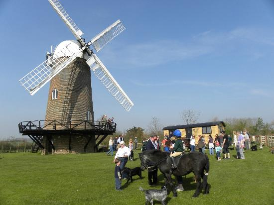 Wilton Windmill and the new shepherd's hut visitor centre