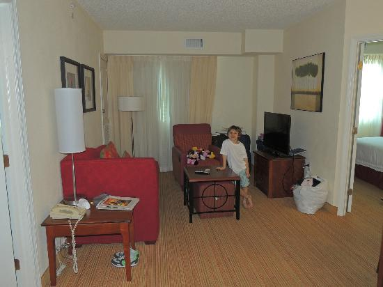 Residence Inn by Marriott Miami Aventura Mall: Living con LCD