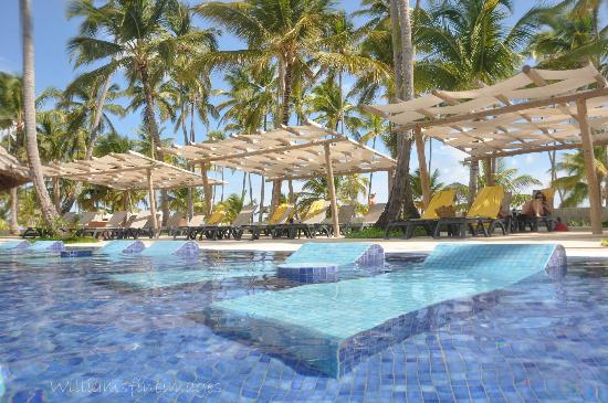 Barcelo Bavaro Beach S Only In Water Lounges Plus The Under Shade
