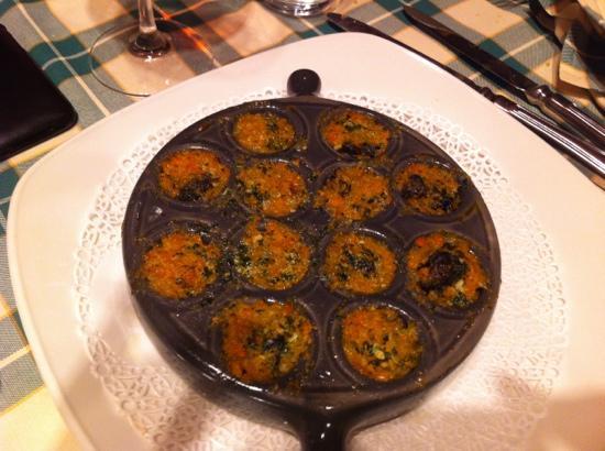 Creminati : lumache con verdurine