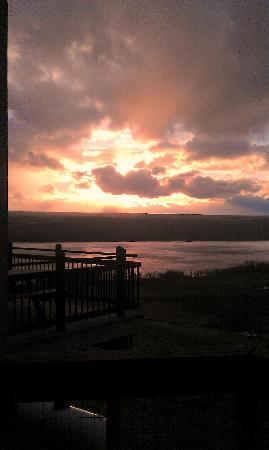 Two Goats Brewing: just one of the many beautiful sunset pictures taken from the deck