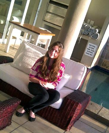 3 On Camps Bay Boutique Hotel: Our daughter at the pool