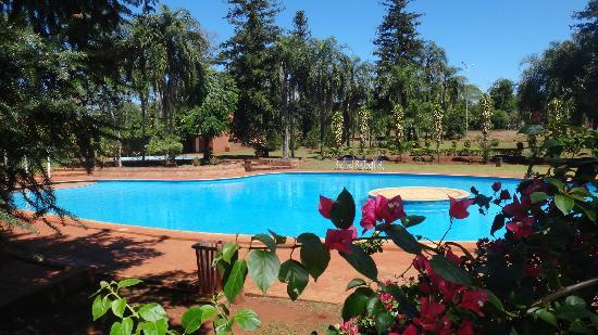Hostel Inn Iguazu: Hermosa pileta y Verde!!