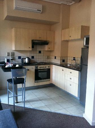 Faircity Mapungubwe Hotel Apartments : the kitchen area