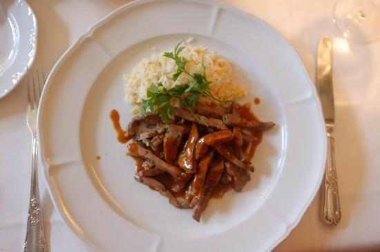 Am Gallusplatz: Kalbsleberli mit Reis