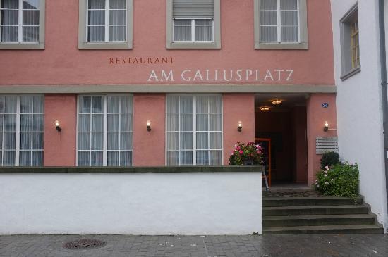 Am Gallusplatz: Eingang