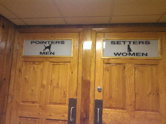 Bathroom Sign Game these bathroom signs set us laughing! - picture of ole's big game