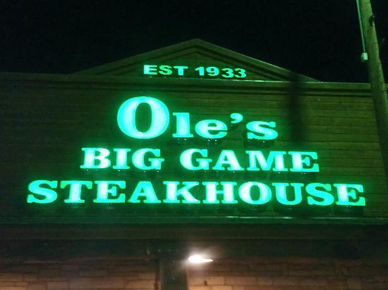 Ole's Big Game Steakhouse & Lounge: In small-town Paxton, Ole's sign is easy to find!