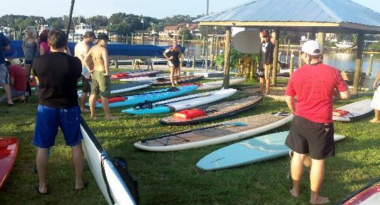 Urban Kai Stand-Up Paddleboarding : Boards out ready to go.