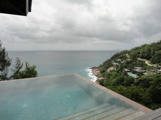 Four Seasons Resort Seychelles: the view for our pool....