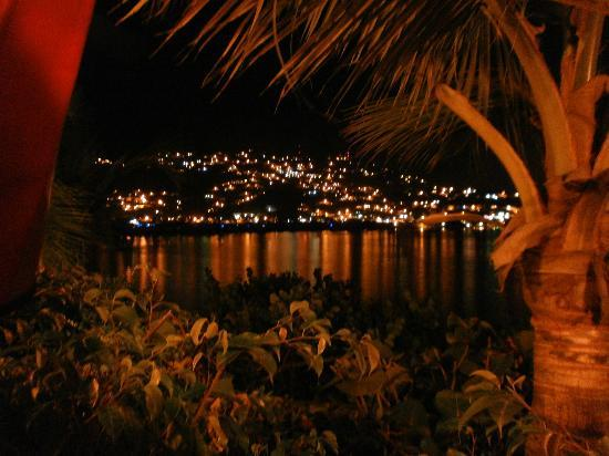 Lindbergh Bay Hotel and Villas: view from the room at night, just beautiful!!!