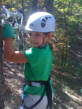 Bear Mountain Ziplines: My 8 year old Emma