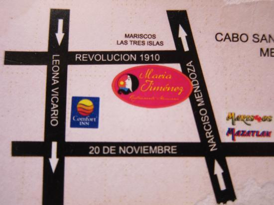 Maria Jimenez Restaurante Mexicano: Map