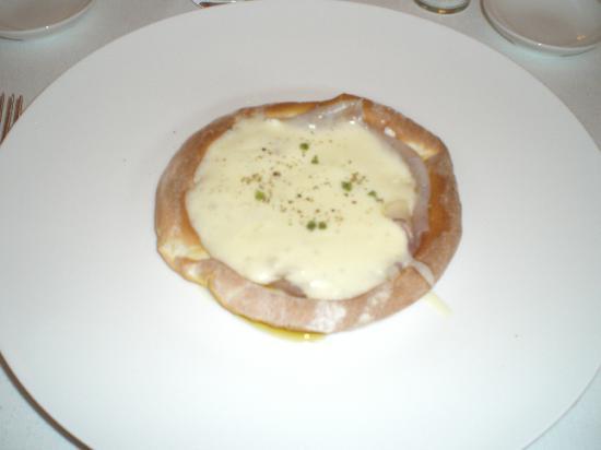La Madia: First Course - Pizzaiola: merluzzo all'affumicatura di pigna