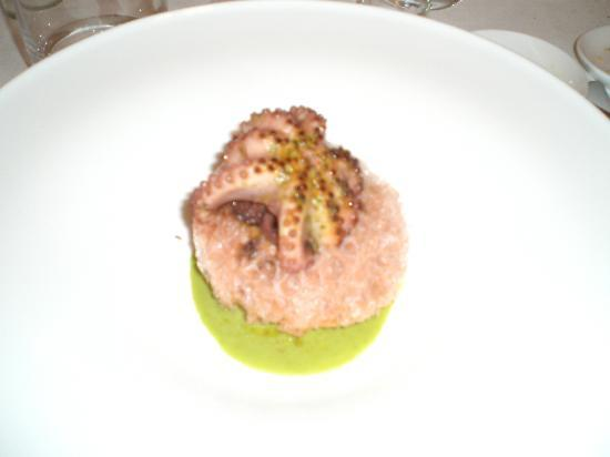 La Madia: Third course - Polpo sulla roccia (the rock was edible, made of the water of the octopus)