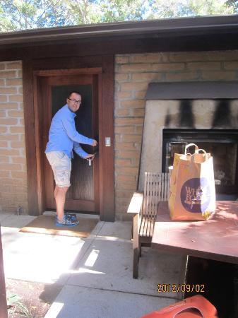Glen Oaks Big Sur: at the door 