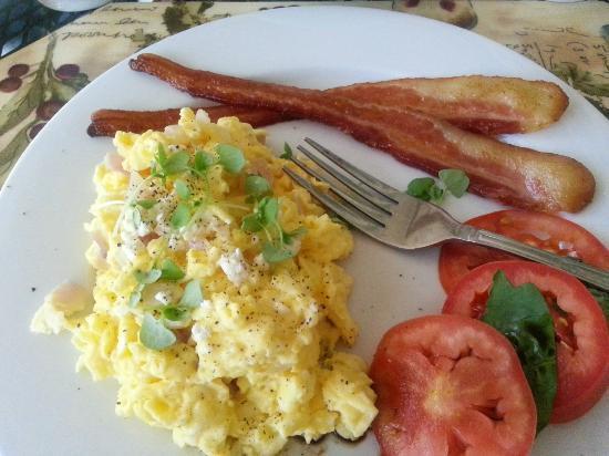 Lovely breakfast prepared by chef at Inn On Summerhill