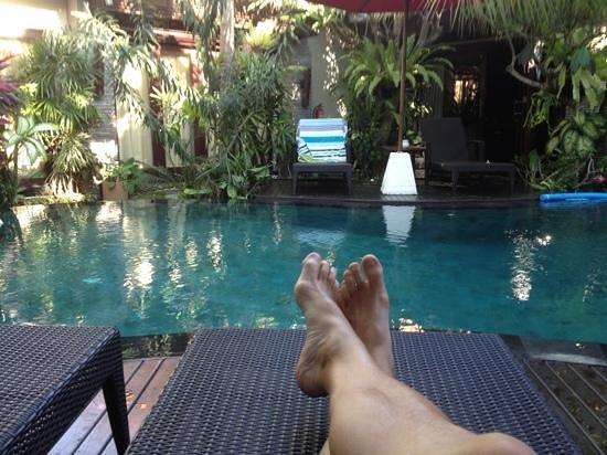 Rumah Santai Villas: lounging round the tranquil pool.