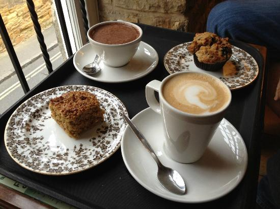 Coffee And Treats ~ Delicious coffee hot chocolate breakfast treats