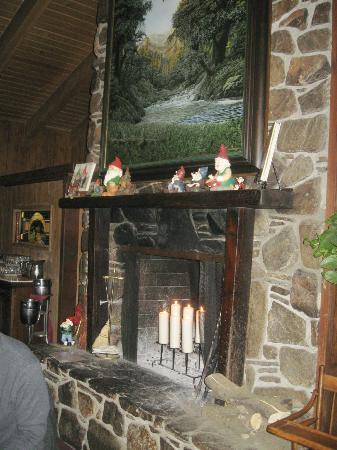 Gastrognome: We ate next to a lovely fireplace filled with candles