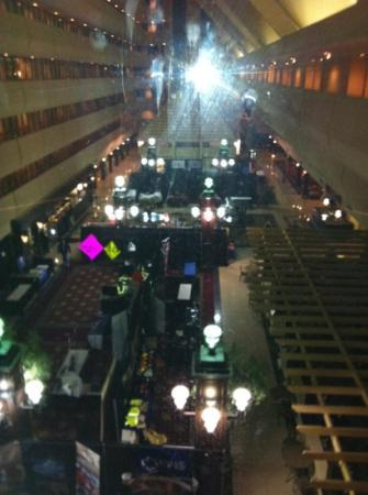 Marriott Knoxville: view from elevator to lobby