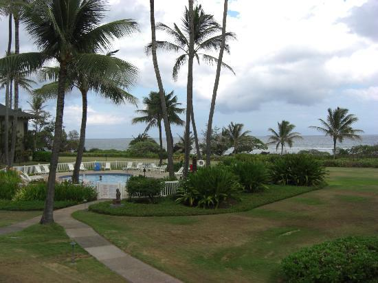 Castle Kaha Lani: View from room.