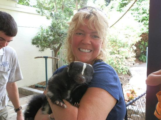 Sarasota Jungle Gardens: Me and Oreo the Skun