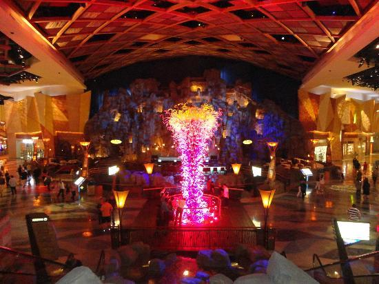 Beautiful inside of Mohegan Sun.