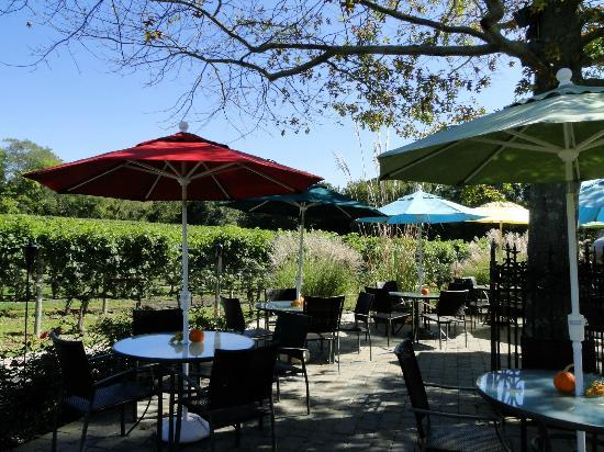 Cape May Winery: Patio Outside Tasting Room
