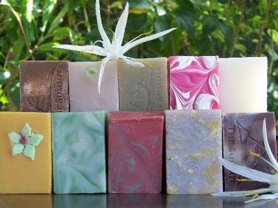 The Summit Gardens Vanuatu: Selection of handmade soap from The Summit Vanuatu.