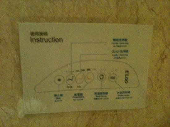 Royal Palace Hotel: toilet instruction on the wall