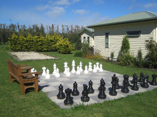 ‪‪Clive Colonial Cottages‬: Boulodrome and chess