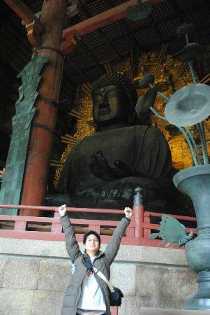 De Tempel van Todaiji: the big buddha