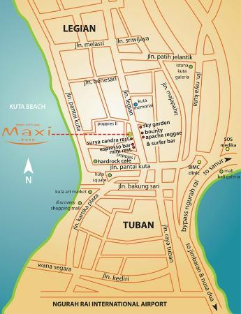 Maxi Hotel, Restaurant & Spa: Our location
