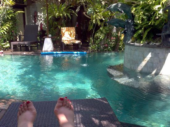 Rumah Santai Villas: View from my deck chair just outside my bedroom 