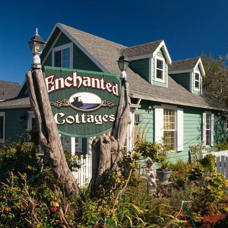 Enchanted Cottages: Our logo and the main house Serendipity