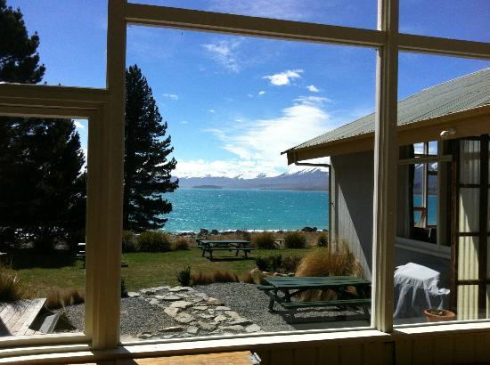 YHA Lake Tekapo: 窗外很棒的風景