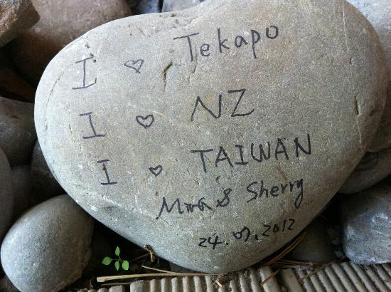 YHA Lake Tekapo: I love Taiwan