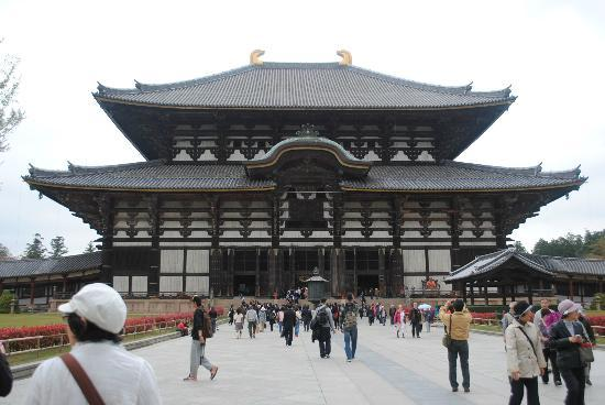 De Tempel van Todaiji: huge temple