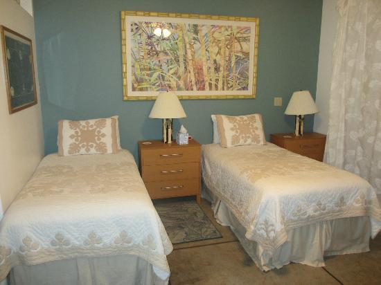 Upcountry Bed and Breakfast: Beds in Twin Room