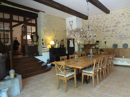 Ferme de Tayac: Great dining room