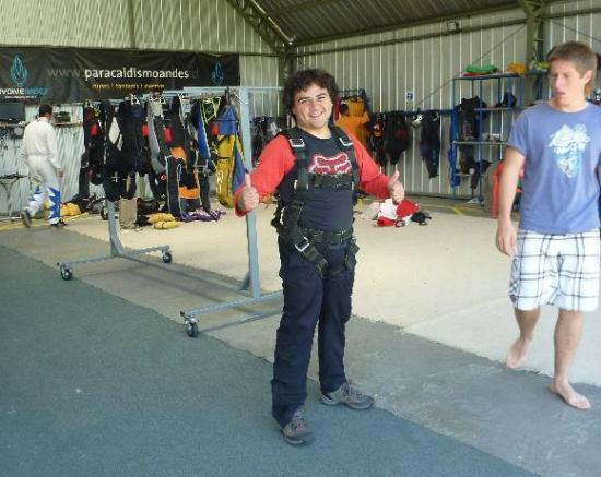 Skydiveandes: Preparacion para el salto