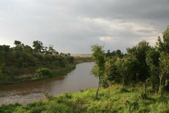 Ashnil Mara Camp: Mara river - view of the coffee area