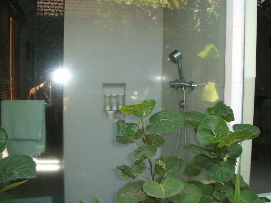 Disini Luxury Spa Villas: 外から見たシャワールーム